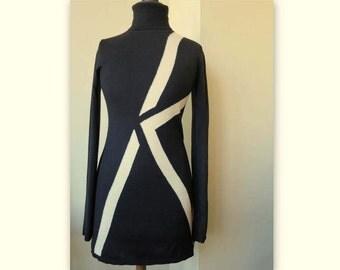 KARK LAGERFELD K, black, medium, long-sleeved dress, size M