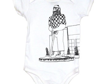 Paul Bunyan Baby One Piece or Toddler Shirt by Portland In Stitches
