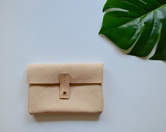 Handmade Natural Leather Clutch
