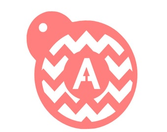 Chevron Stripe Cookie Stencil, Letter Monogram Cookie Stencil, Personalized Baking Stencil, Chevron Stripe Fondant Cookie, Baking Stencil