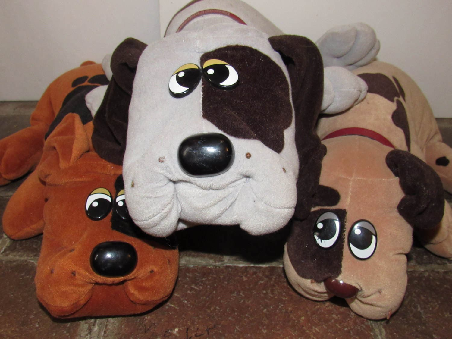 Vintage Pound Puppies Tonka Pound Puppy Family of Three Retro
