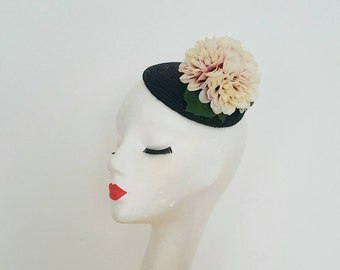 New Collection Spring Summer 2017 Fascinator Straw Hat 1940's 1950's Flowers Vintage Inspired Pin Up