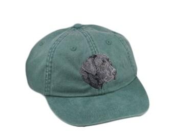 Black Labrador retriever embroidered hat, baseball cap, dog lover gift, dad hat, dog mom, gift for pet lover, dog hat, dog agility, lab