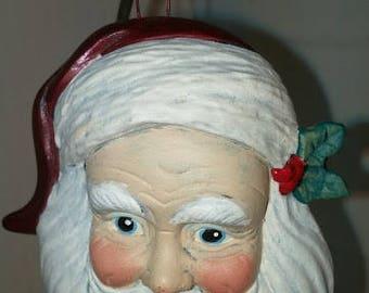 Classic Santa Head Ornament