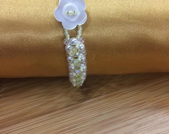 Pearl and Yellow Crystal Bracelet