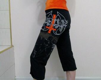 Marduk Capri Pants DIY Women's Black Metal Clothing