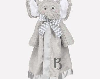 Elephant Personalized Lovie Blanket for Baby