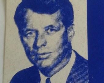 Original Vintage ROBERT KENNEDY for President Window Bumper Sticker RFK 1968 Rare