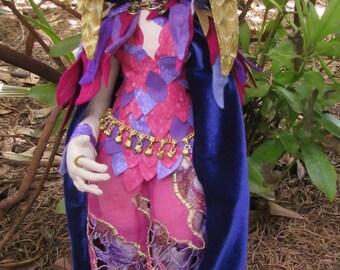 OOAK fantasy cloth art doll, Sorceress