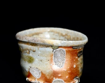 natural ash glaze guinomi
