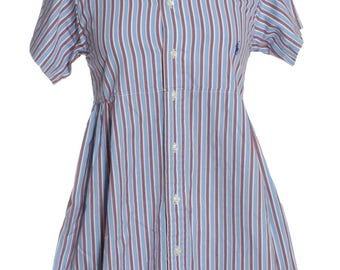 Vintage Ralph Lauren Upcycled Striped Shirt Dress 8 - www.brickvintage.com