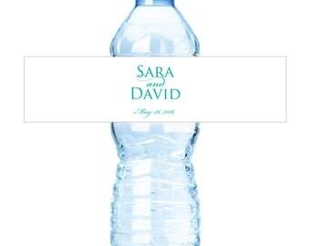 Personalized Wedding Water Bottle Labels Waterproof Labels Waterbottle Labels Monogram Stickers Custom Bottle Labels Party Favors Sticker