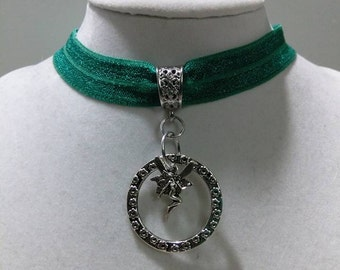 SALE! The Green Fairy Absinthe Ribbon Choker Necklace