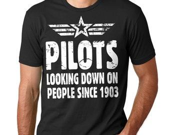 Pilot T-Shirt Aviator Funny Pilot Gift Tee Shirt