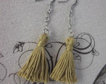 Tassel earrings chic boho accessories bohemian earrings  Lavish Lucy  tassel earrings festival earrings long dangle drop tassel  earrings