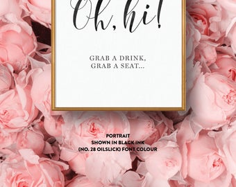Wedding Sign Single-Sided Printed Diy Printable Digital File Only — The Kaytlyn Collection — Oh Hi!