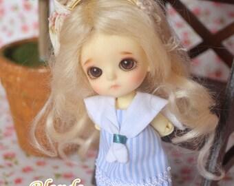 bjd doll girl wig W-M3 (2 colors) for 1/12 lati white fl pukipuki