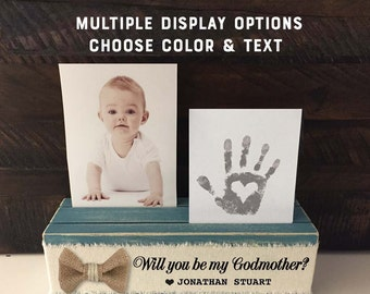 Will you be my Godmother? Will you be my Godparent?  Will you be my Godfather? Godparent Gift Photo Keepsake Holder