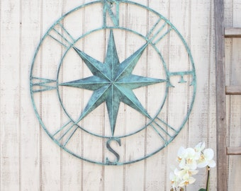Nautical Wall Decor compass wall decor nautical compasswall art nautical metal