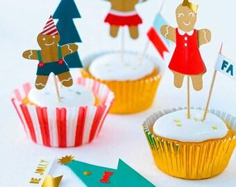 Gingerbread D-I-Y Cupcake Kit by Meri Meri