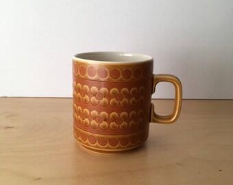 Vintage Hornsea Pottery Mug- Saffron Design- 1970s