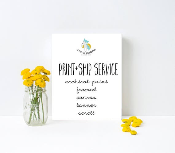 Printing Service- Print and Ship- Add on Listing- Add to Cart with Printable you would like mailed