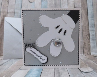 Engagement , Wedding or Save the Date Card - Minnie's hand showing an Engagement Ring