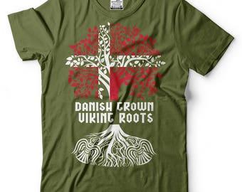 Danish Grown Viking Roots T-Shirt Danish Viking Tee Shirt