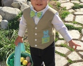 Vest and Bow Tie Set for Infants, Toddlers and Young boys 3 months to size 8