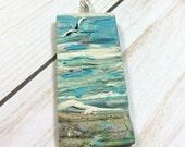 Seascape Necklace - Ocean Necklace - Beach Necklace - Sea- Pendant Necklace