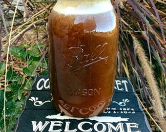 ONE 3 lb jar- PURE, All Natural Raw(unprocessed/unpasteurized) Alfalfa Honey in Mason Jars