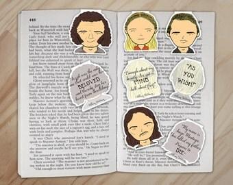 Princess Bride Magnetic Bookmarks Set - Princess Buttercup, Westley, Fezzik, and Inigo Montoya Clips