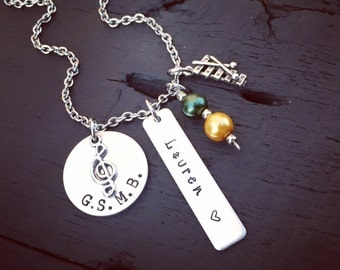 Xylophone Necklace | Xylophone Jewelry | Band Necklace | Band Jewelry | High School Marching Band Jewelry | Music Jewelry | Band Gift