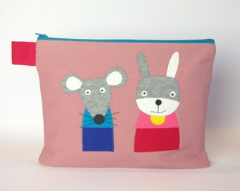 """""""Diaper bag/cosmetic bag rabbit and mouse"""""""