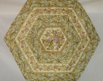 Hexagon Table Topper, Center Piece, Hexagon Center Piece, Table Topper, Table Decor