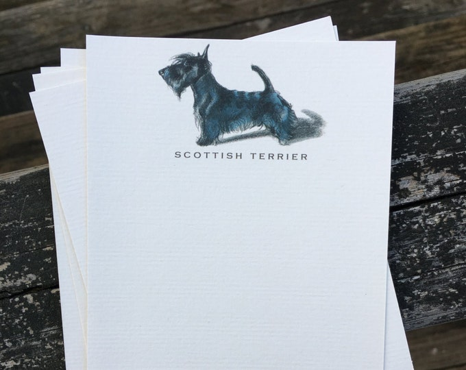 Scottish Terrier Dog Note Card Set