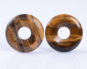 25mm Genuine Tigers Eye Donut