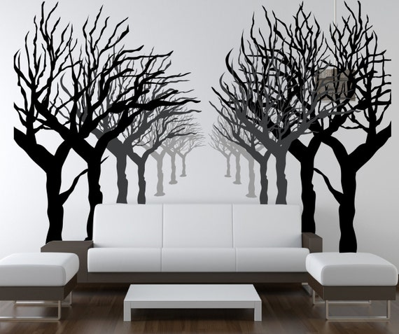 Set of Abstract Birch Tree Wall Decals by ChicWallsDesign