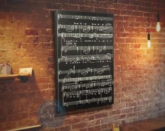 Sheet Music Wall Art sheet music wall art music notes framed wedding song
