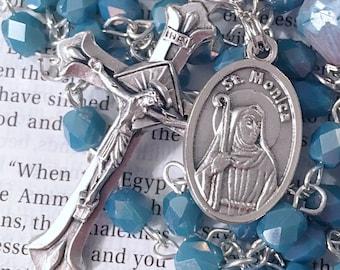 Saint Monica Rosary Catholic Rosaries Mary Rosary St Monica Rosary Confirmation Gift Saint Rosary Catholic Gift