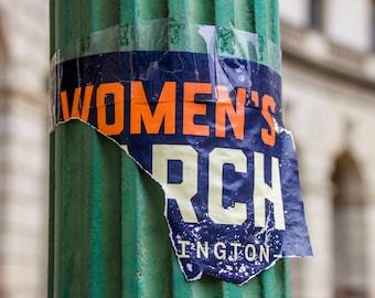 Fine Art Photography, Womens March on Washington, Washington DC, Women's March, Wall Art, Office Decor, 8 x 10 Print, Green, Orange, Blue