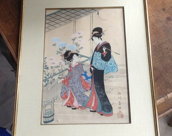 Japanese print circa 1950