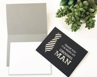 Thank You Groomsmen Cards (set of 4)