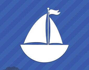 Sail Boat Vinyl Decal Sticker
