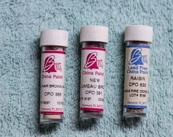 Bell China Paints 3 Vials