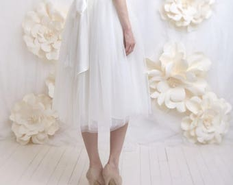 Skirt for wedding dress in tulle, tutu for wedding color Ecru or customizable