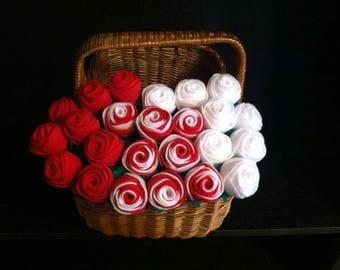 6 Felt Stem Roses, Forever Roses, Mother's Day, Anniversary, Love