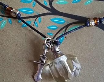 Boy's Sword Oil Necklace