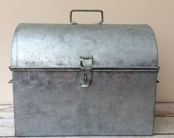 Galvanized Metal Tool Box, Metal Storage Box
