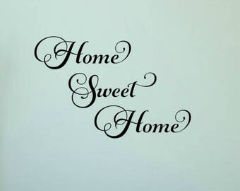 Home Sweet Home Wall Decal Home Sweet Home Vinyl Decal Home Sweet Home Decal Home Wall Decal Vinyl Wall Decal Entryway Decal
